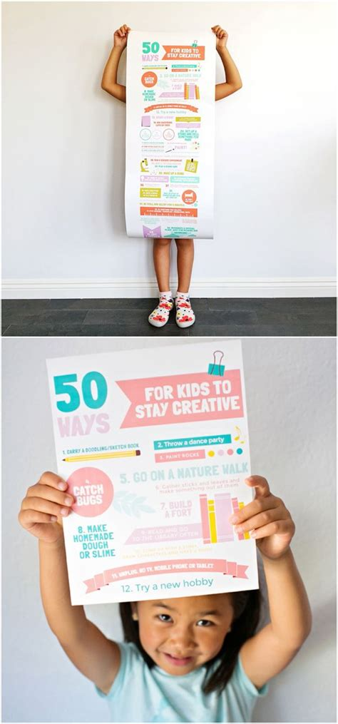 creative ways to hang posters 50 ways for kids to stay creative poster hang this up in