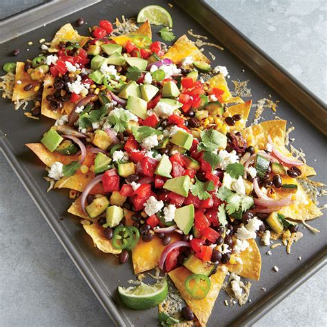 a make ahead vegetarian dinner party from ina garten ina garten two cheese veggie nachos recipe myrecipes