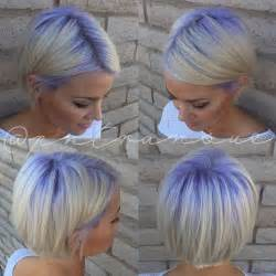 platinum hair with purple roots hair colors ideas