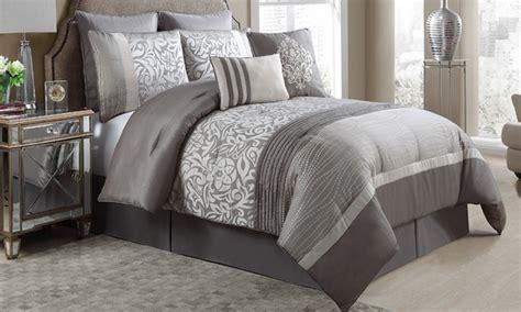 comforter groupon king and queen embellished jacquard 8 piece comforter sets