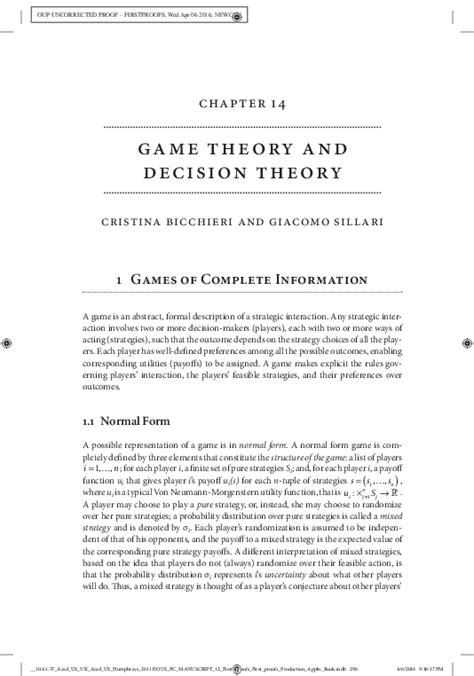 cristina bicchieri theory and decision theory cristina bicchieri