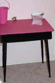 diy school desk makeover paint redo how to