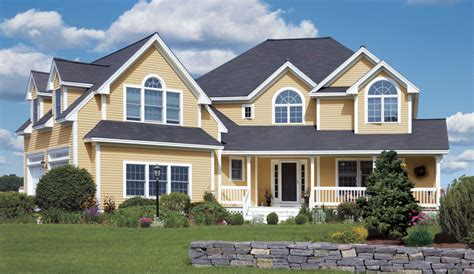 houses with vinyl siding roofing siding