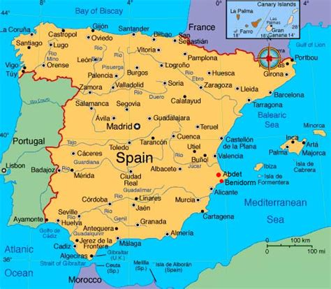 map spain maps of spain
