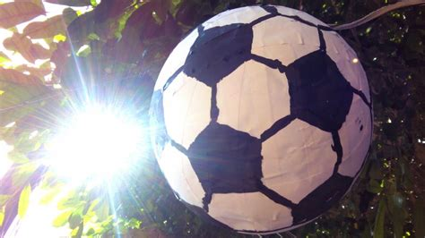 How To Make A Paper Mache Football - how to make a soccer pinata diy home tutorial