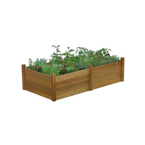 Raised Garden Beds Home Depot by Cedar Elevated Bed Raised Garden Beds Garden Center