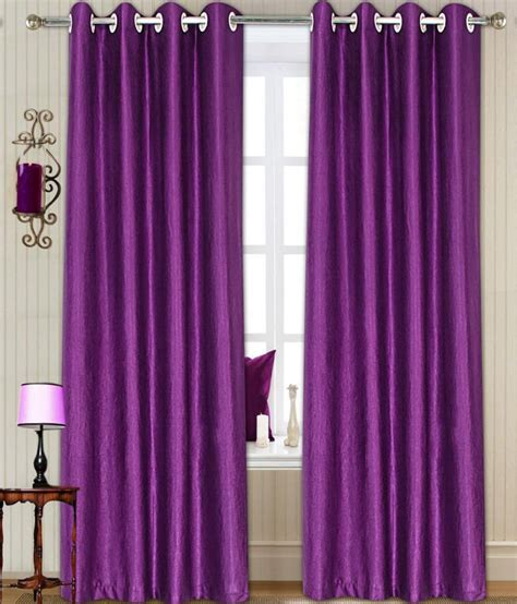 curtain t t decor pink polyester long door curtain set of 2 buy t