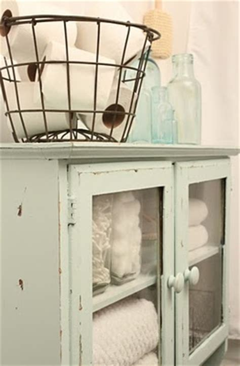 bathroom storage cabinet with baskets distressed green blue freestanding cabinet with glass