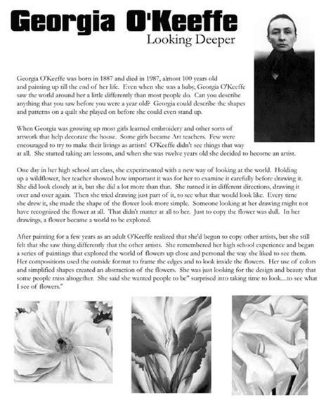 artist biography worksheet flower sub plans and medium on pinterest