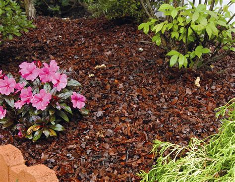prevent weeds in flower beds using rubber mulch in flower beds thin blog
