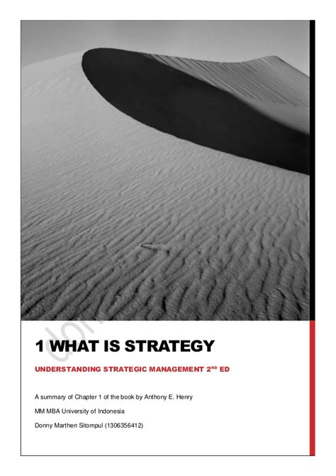 Keystone Strategy Mba Linktedin by Summary Of Chapter 1 What Is Strategy Understanding