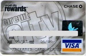 Circuit City Gift Card - bank card circuit city rewards chase united states of america col us vi 0033 2