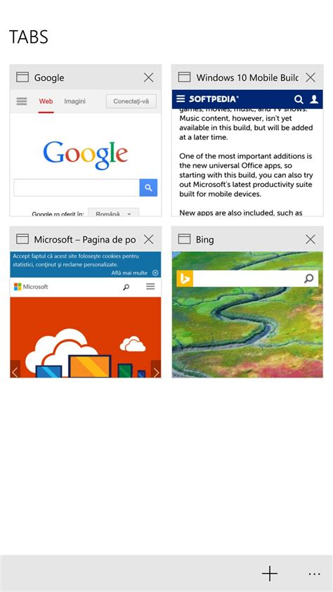 edge microsoft windows 10 browser this is microsoft edge browser in windows 10 mobile build