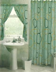 bathroom shower curtain with matching rings and window