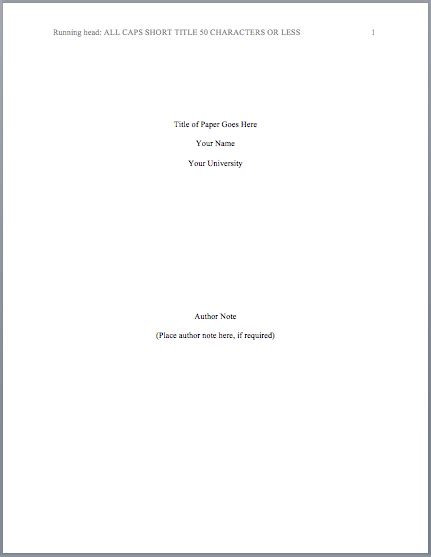 Formal Essay Title Page by Lab Report Title Page Format Free Elsevier