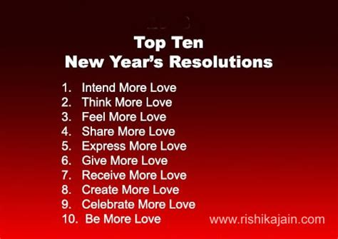 top ten new year s resolutions inspirational quotes