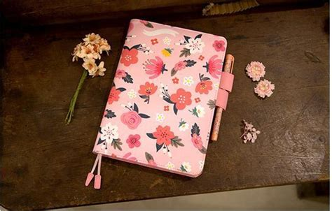 Agenda Note Book Flower Collection quot flower world quot planner agenda notebook a5 a6 faux leather cover weekly monthly diary