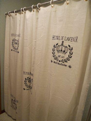 french script shower curtain french script shower curtain design pinterest