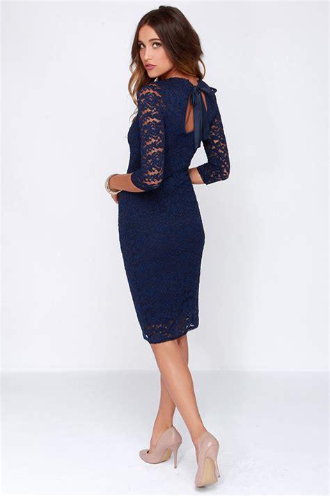 Midi Dress Blue Murah Murah black swan tinsel navy blue dress lace dress 87 00