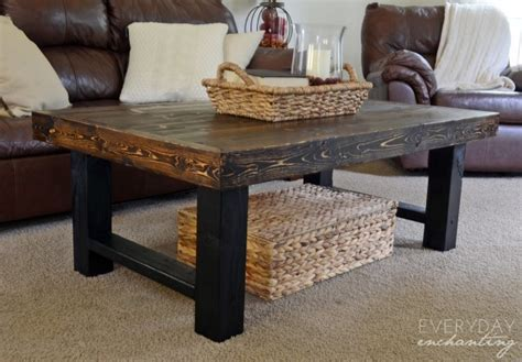 ana white simple wood slab coffee table featuring