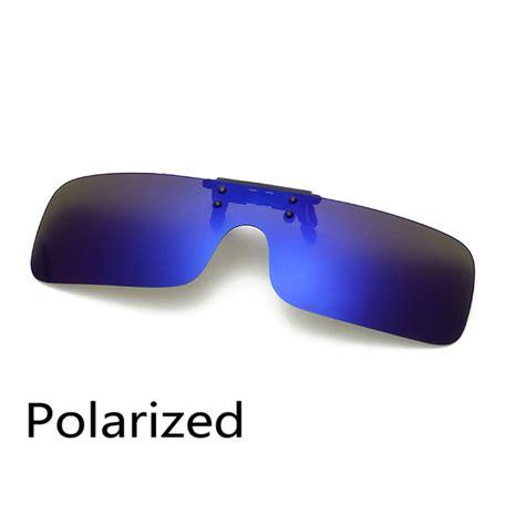 polarized clip on sunglasses clip on glasses square