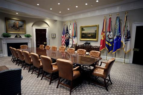 the roosevelt room white house unveils newly renovated roosevelt room news israel news israel politics