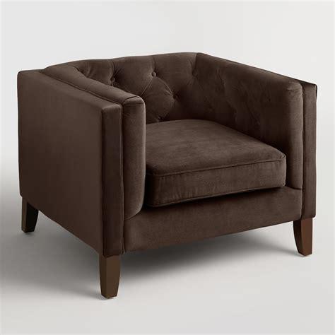 chocolate brown velvet kendall chair world market