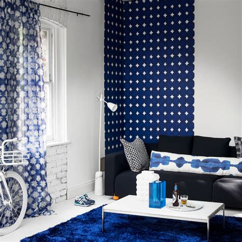 Color Combination For Curtains Decorating Living Room Colour Schemes Modern Navy And White With Graphic Prints 187 Connectorcountry