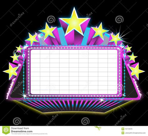 marquee sign stock vector image of drama play copy