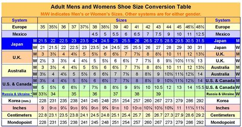 shoe size conversion chart car interior design