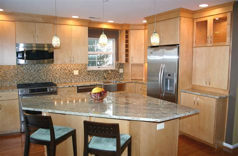 quartz countertops with maple cabinets