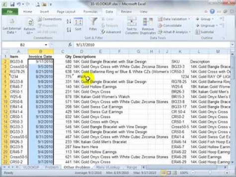 vlookup tutorial mrexcel how to use vlookup in microsoft excel 2010 e tutorial