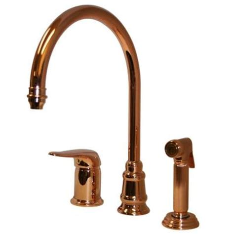 copper kitchen faucet with sprayer whitehaus collection single handle side sprayer kitchen