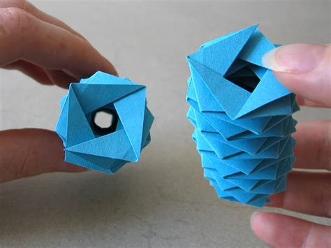 Origami Printer Paper - coil fold 4 30 s tomoko fuse happy folding