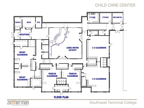 flooring  cool daycare floor plans building