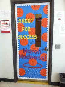 march madness themed classroom door sports theme