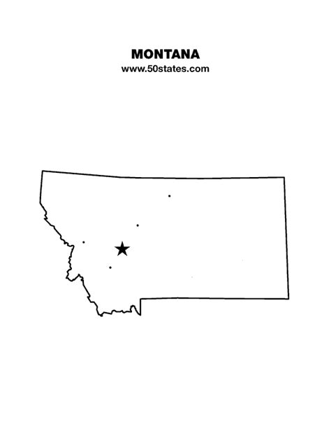 Montana Map Outline by Montana Map
