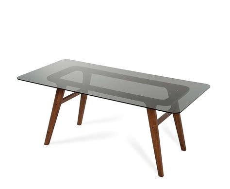 modern dining table legs smoked glass dining table vg858 modern dining