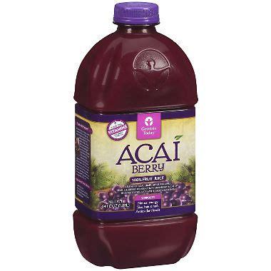 Bossa Acai Fruit Juice by Genesis Today Acai Berry 100 Fruit Juice 64 Oz Sam