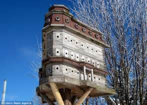 luxury birdhouse huge cedar wood mansion comes with 103