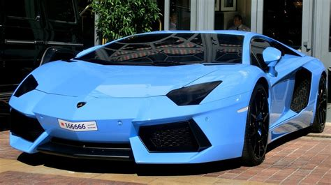Light Blue Lamborghini Arab Baby Blue Aventador From Bahrain In Cannes