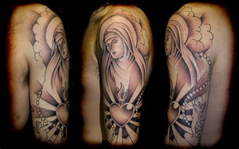 half sleeve religious tattoos for men tattoos