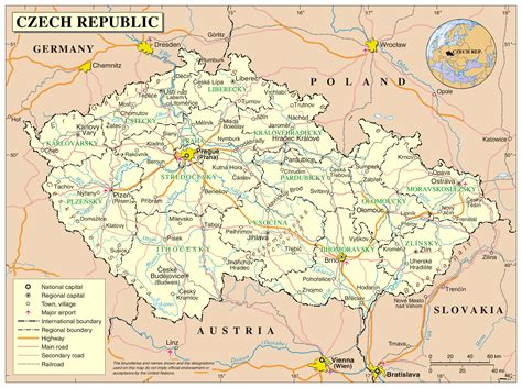 republic map with cities maps of republic detailed map of the