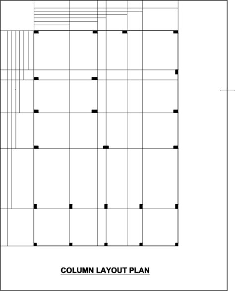 layout column column layout plan of the multi storey building 2 2 design