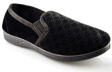 size 16 slippers mens new boxed slip on velour gusset slippers shoes