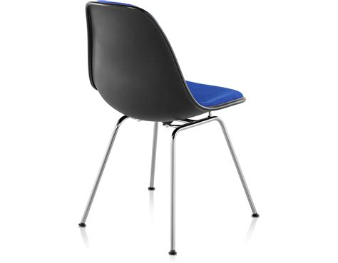 eames upholstered side chair eames 174 upholstered side chair with 4 leg base hivemodern