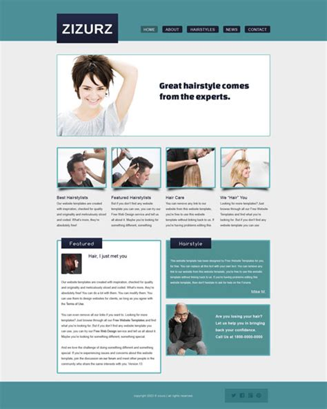 exles of hair websites 25 cool beauty salon html website templates