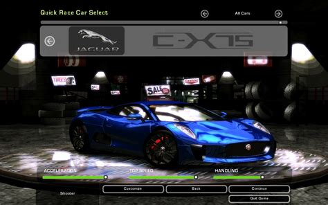 need for speed jaguar need for speed underground 2 jaguar c x75 nfscars