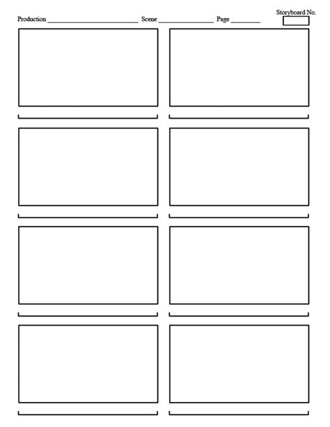 lean storyboard template images
