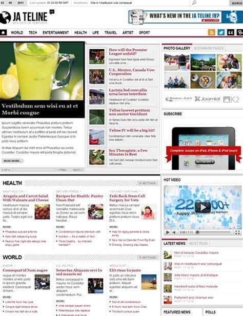 joomla k2 templates ja teline iv joomla magazine news template supports